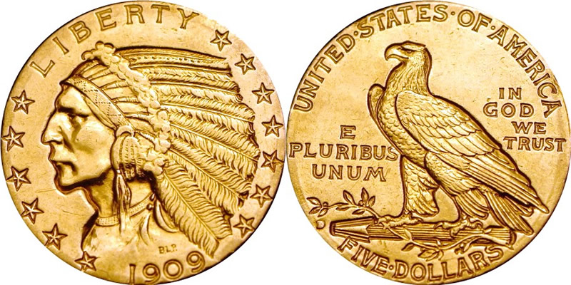 Historical incuse design coins