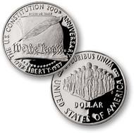1987 U.S. Constitution Silver Dollar