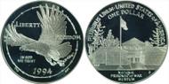 1994 Prisoner of War Silver Dollar MS70