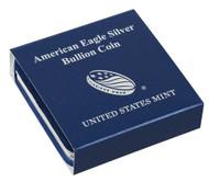 Genuine U.S. Mint blue box for American Eagle Silver dollars