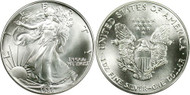 1986 American Eagle Silver Dollar reverse and obverse