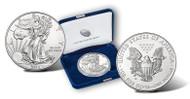 2014-W Burnished Silver Eagle- Original Mint Box