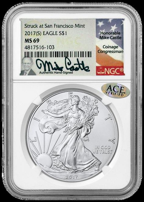 2017 (S) Silver Eagle- Mike Castle