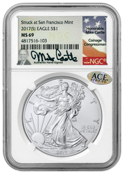 2017 (S) Silver Eagle- Mike Castle