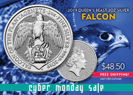 2019 Queen's Beast Silver Falcon 2 Oz