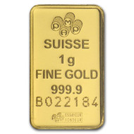 1 gram (999.9 pure) Gold Bar
