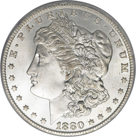 1880 Morgan Extremely Fine To Almost Uncirculated