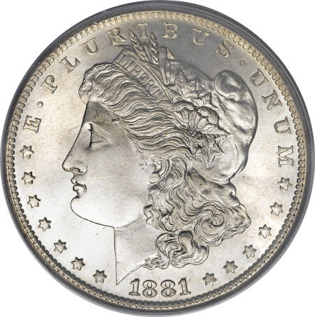 1881 S Morgan Silver Dollar Extremely Fine To Almost