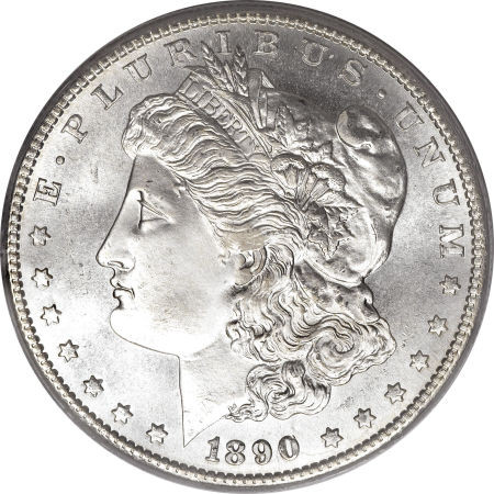 1890 Morgan Extremely Fine To Almost Uncirculated