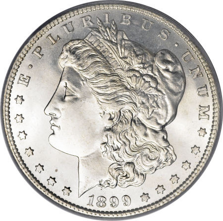 1899 O Morgan Silver Dollar Extremely Fine To Almost