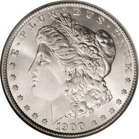 1900-O Morgan Silver Dollar; New Orleans Mint
