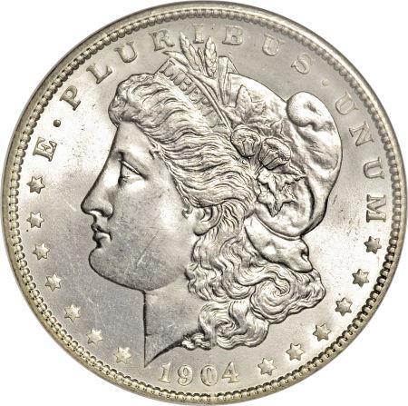 1904-O Morgan Silver dollar; New Orleans Mint