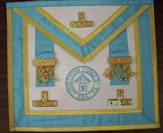 Centennial Worshipful Master, Past Master Apron with Lodge Badge