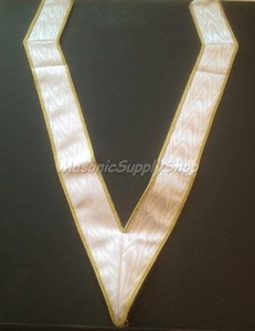 White Collaret with Gold Trim