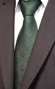 Forest Green Tie  with S & C