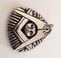 Masonic Blazing Sun Pendant Steel