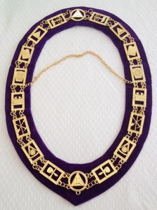 Royal Arch Officers Chain Collar  Royal Purple