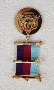 Royal Arch Past Z  Breast Jewel  Tri-Coloured Ribbon