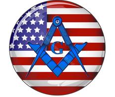 Masonic US Flag Car decal