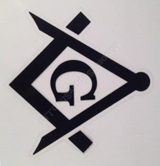 Car Decal (stickers) Black Square & Compass with G  2 per pack (for Tail Lights)