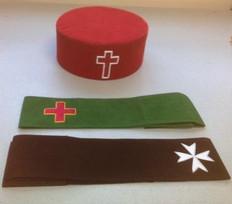 Knight Templar Hat  Bands