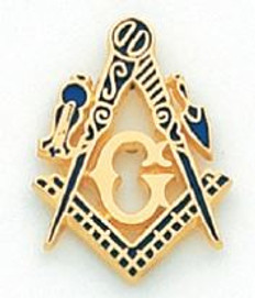 Large Gold Square & Compass Lapel Pin MST8301T