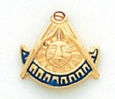 GOLD PAST MASTER LAPEL PIN MSTPM-12T