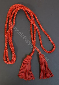 Knight Templar Mantle Cord  Red