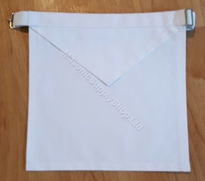 White Cotton Apron  13 x15