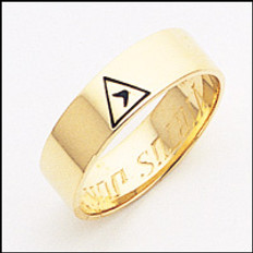Scottish Rite Ring 01 14th Degree 6MM GOLD