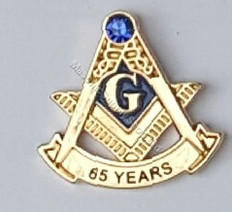 65 year Masonic lapel pin