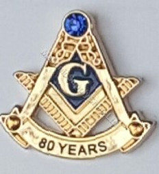 80 Year Masonic Lapel Pin
