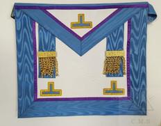 European  Past Master Masons Apron  Blue