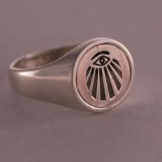 Custom Silver Flip Ring  Your Choice of Symbols