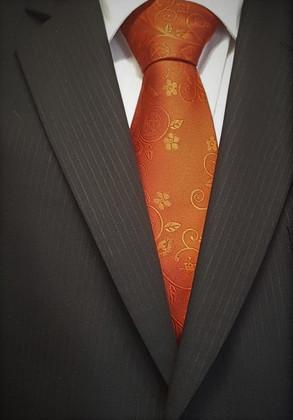 Masonic Tie  Dark Red   Wreath Design