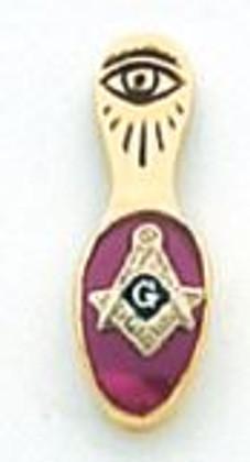 GOLD SLIPPER LAPEL PIN   HOM6399T