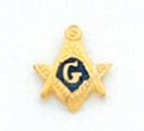 GOLD SQUARE AND COMPASS TIE TAC MST903T