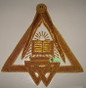 Royal Arch Grand Chapter Apron with Circle  No Fringe