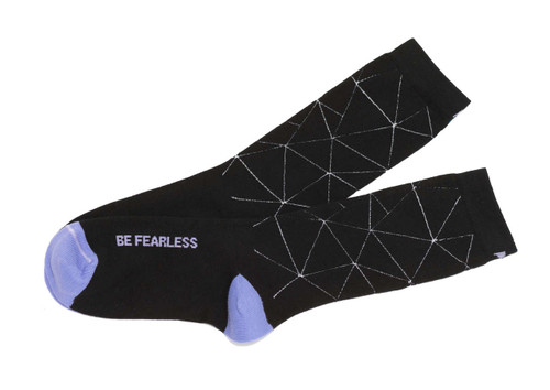 Be Fearless Black  Women's Socks