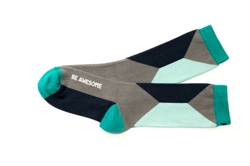 Be Awesome Navy & Mint Women's Socks