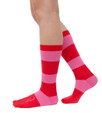 All Heart colorful, pink and red stripe socks by Posie Turner. Socks with inspiring words.