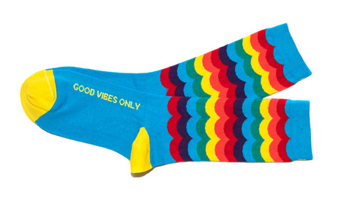 Good Vibes Only Rainbow Women's Socks