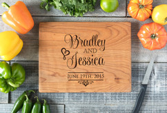 Cherry Personalized Cutting Board ~ Stacked Names