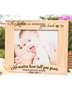 Personalized Picture Frame - A Mother is Someone