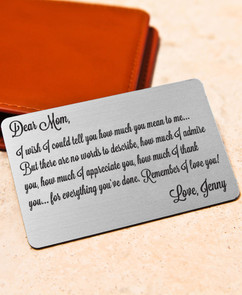 Groupon AU Personalized Wallet Card - How we admire you