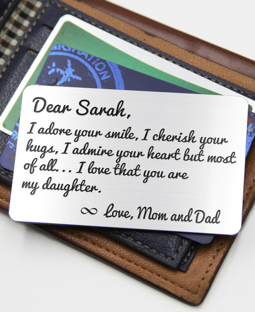 a5b5838b2d Groupon AU Personalized Wallet Card- Daughter I adore you - Cabanyco