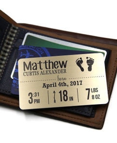 Groupon AU Personalized Wallet Card - Newborn Baby