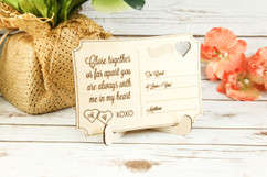 Personalized Wood Standing Post Card - Close together or far apart