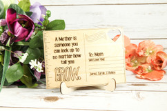 Personalized Wood Standing Post Card - No matter how tall you Grow