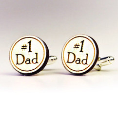 LUX Engraved Cuff Links - Number 1 Dad
